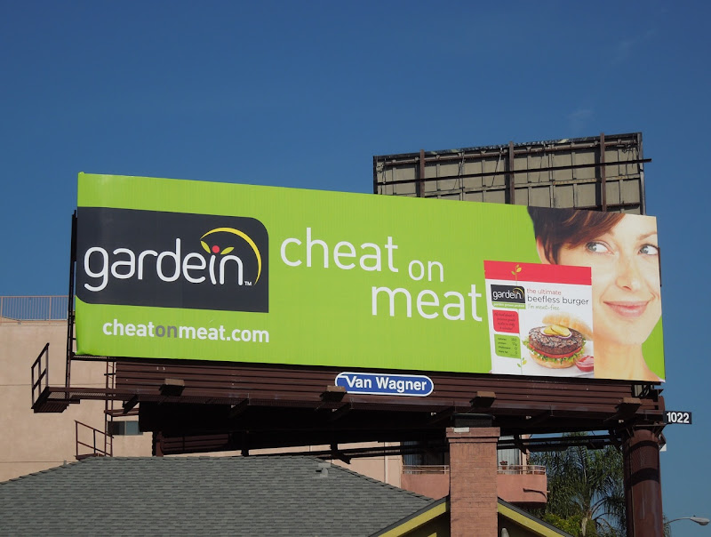 Gardein cheat meat billboard
