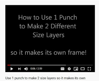 Link to video showing how to use one punch to create a frame for itself
