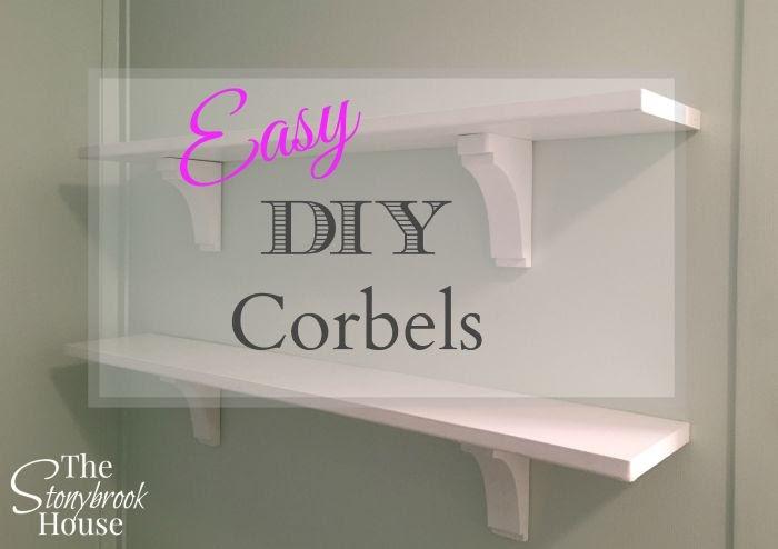 Easy DIY Corbels for shelves