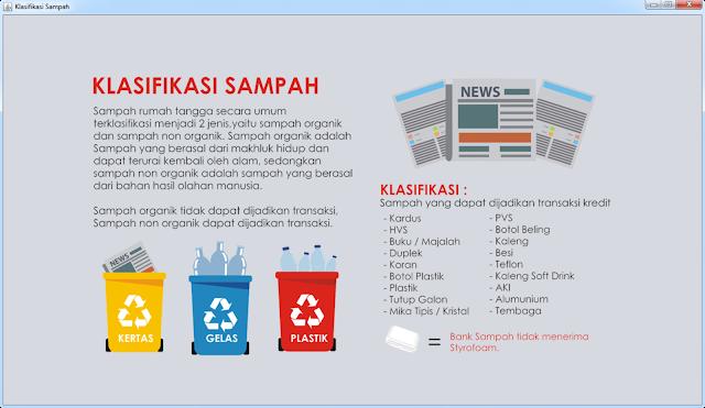 Form Klasifikasi Bank Sampah