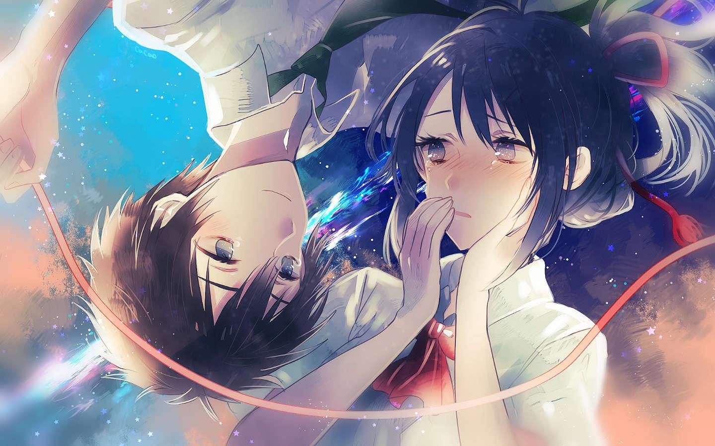 Wallpaper kimi no nawa couple romantis desktop