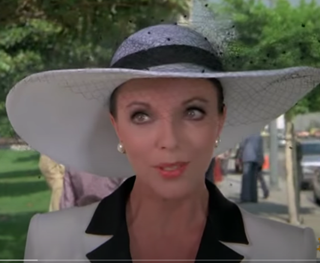 The dame Joan Collins
