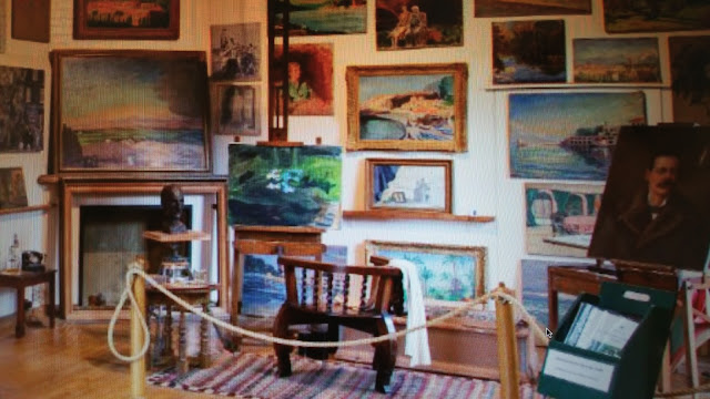 As Churchill suffered from depression he resulted to creating over 500 paintings of which most can be seen in his home.