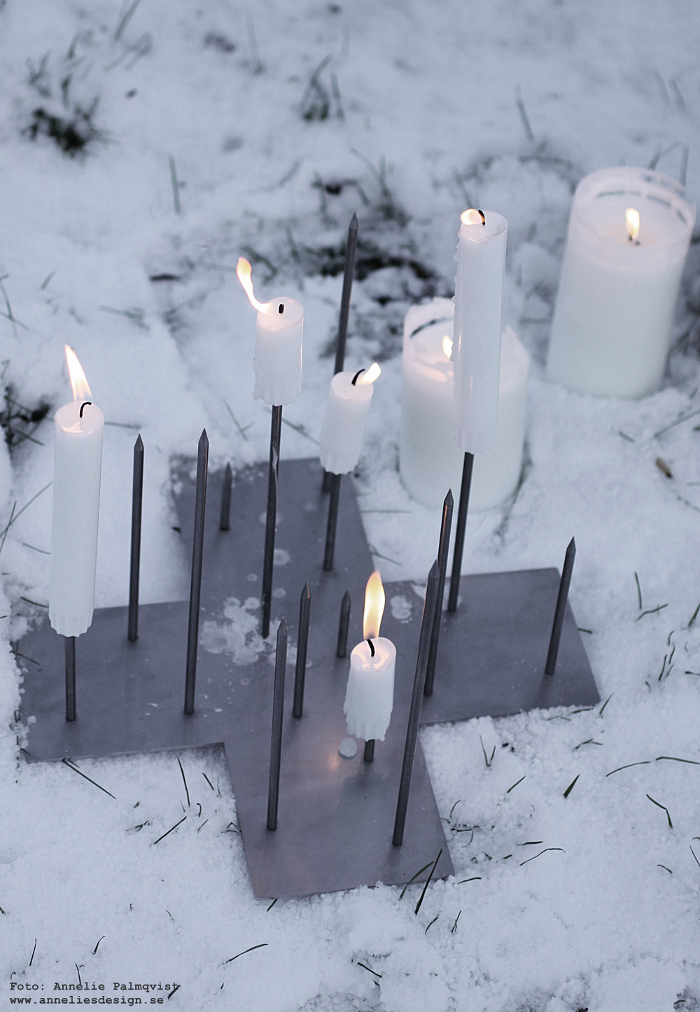 annelies design, webbutik, ljusstake, ljusstakar, inredning, candle cross, varberg,