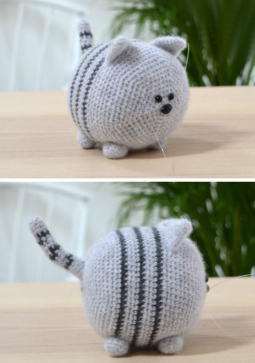 Stripey Cat - Free Crochet Pattern