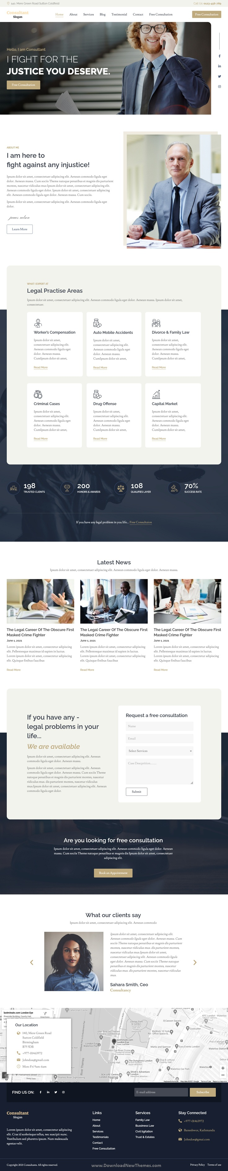 Lawyer & Attorney Elementor Template Kits
