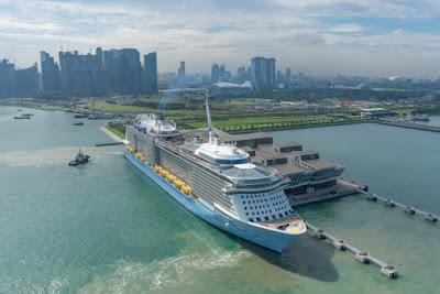 Source: Changi Airport Group. The Singapore-homeported Ovation of the Seas.