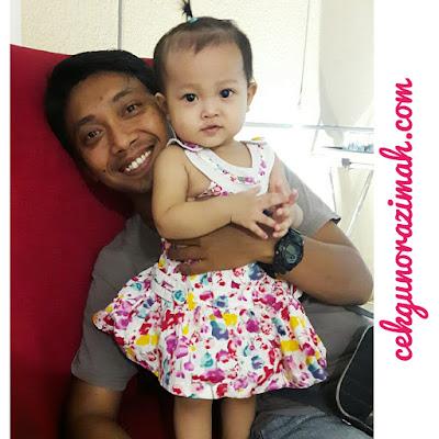 dhia zahra, bayi setahun, bayi comel,anak ayah