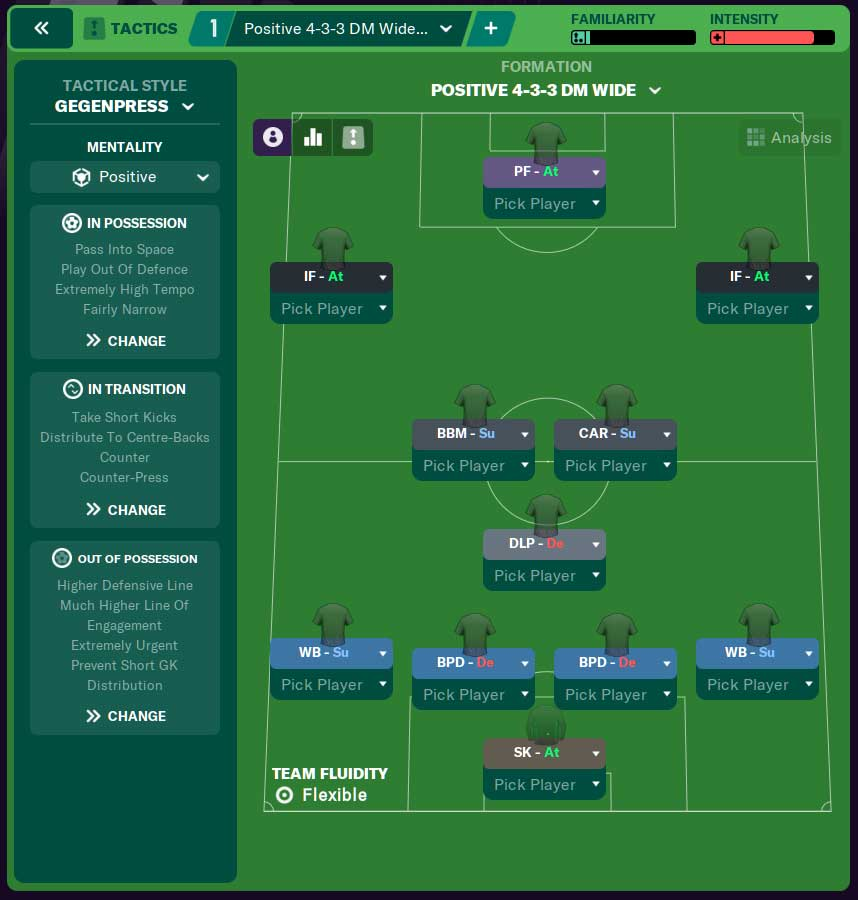 4-3-3 Formation FM21