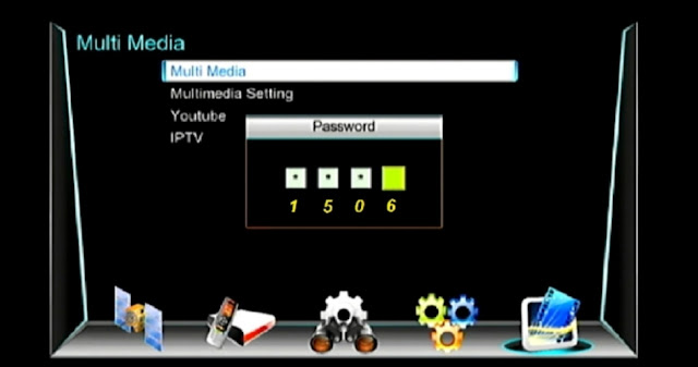 SATELLITE DISH TV HD RECEIVER 1506G