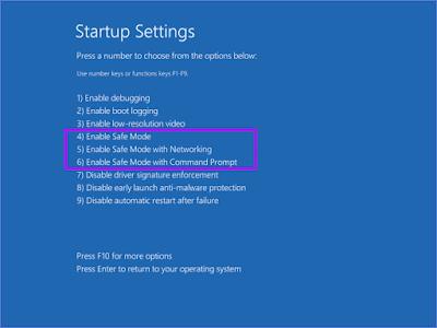 Langkah 8 Masuk Safe Mode Windows 10 Secara Paksa