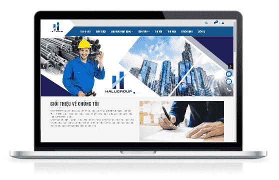 Giao diện blog bán hàng Vật liệu xây dựng