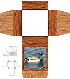 printable wood and duck photo box
