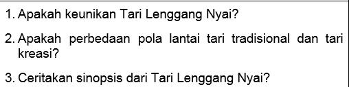 Soal Bahasa Indonesia SMP-MTs Kelas 7, 8, dan 9 Tentang Pelangi Nusantara: Tarian Langgeng Nyai