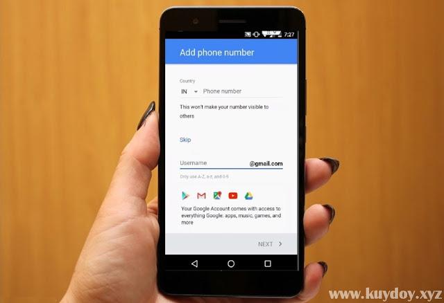 Cara Membuat Akun Gmail Tanpa Verifikasi Nomor HP di Android