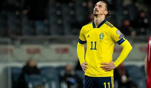 استبعاد زلاتان إبراهيموفيتش من قائمة منتخب السويد بسبب الاصابة