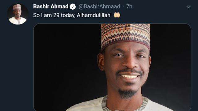 Buhari's Personal Assistant On New Media Bashir Ahmad Clocks Twenty Nine