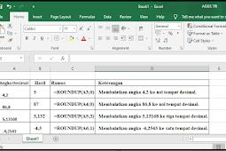 Rumus  ROUNDUP Excel dan Contohnya