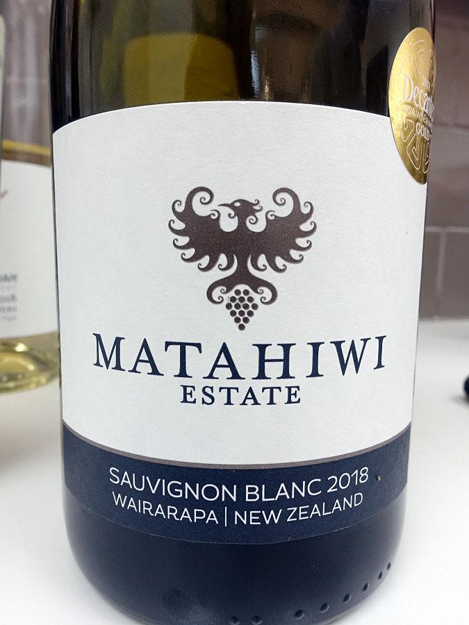 Matahiwi Estate Sauvignon Blanc 2018 (89 pts)