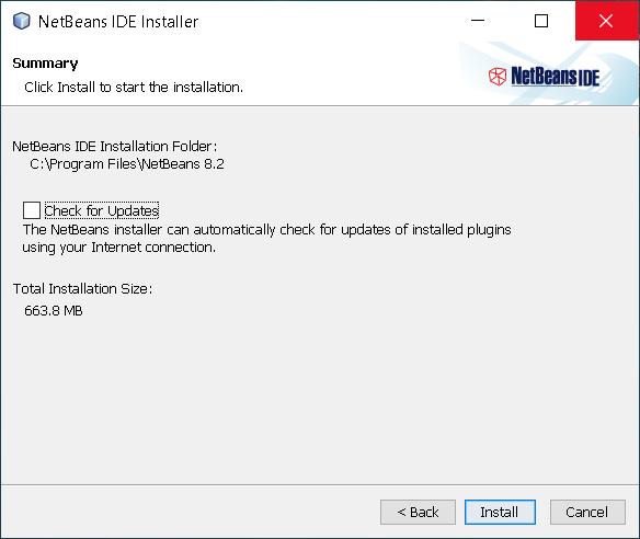 Step 5 - Install NetBeans 8.2 on Windows