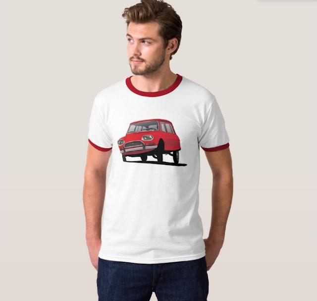 Citroën Ami 8 punainen t-paita