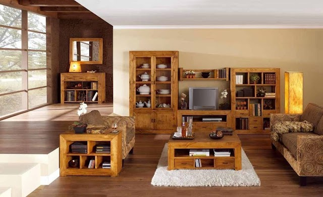 Muebles de madera versátiles
