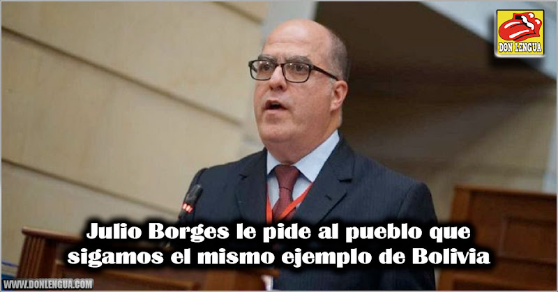 Julio Borges le pide al pueblo que sigamos el mismo ejemplo de Bolivia