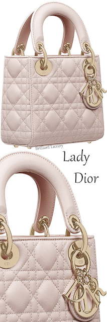 Rose poudre mini Lady Dior lambskin bag #brilliantluxury