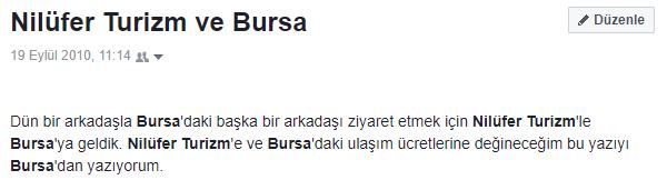 Nilüfer Turizm ve Bursa (19.9.10)