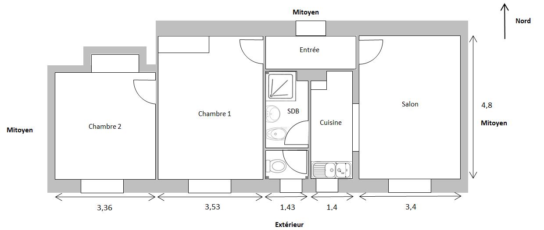 appartement en enfilade am nagement appartement 140 m2. Black Bedroom Furniture Sets. Home Design Ideas