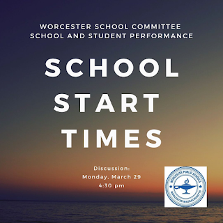 Worcester getting into their school start time discussion
