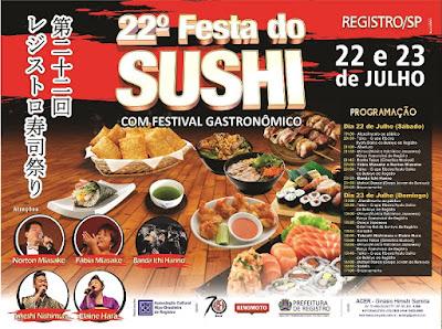 Festa do Sushi é a atração deste  fim de semana em Registro-SP