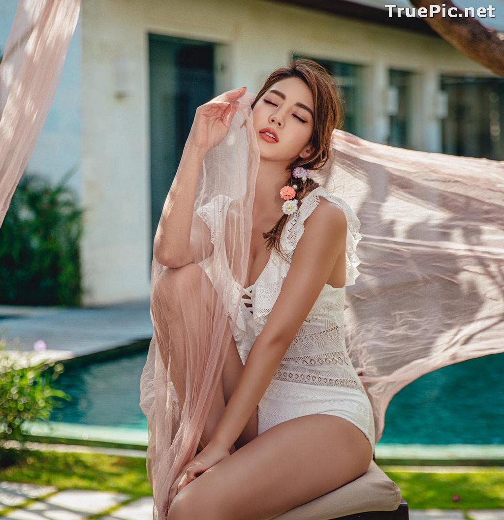 Image Korean Fashion Model - Lee Chae Eun - Linda One Piece Swimsuit - TruePic.net - Picture-10