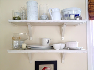 diy open shelves