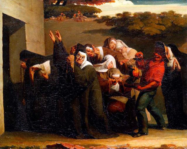 Жан Франсуа Милле - Попугай в монастыре. 1840