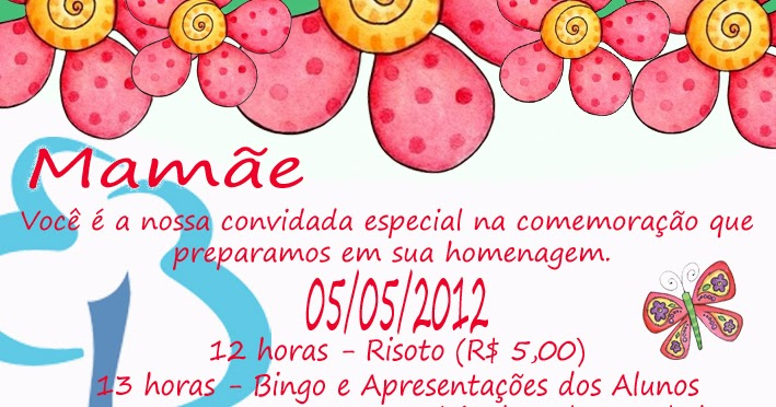 Blog Da Elvira Convite Dia Das Mães
