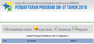 Cara Daftar Online SM-3T,Sarjana Mendidik Daerah Terluar, Terdepan dan Tertinggal Tahun 2016
