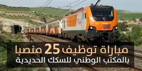 كونكورات جداد في المكتب الوطني للسكك الحديدية، 25 منصب آخر أجل 30 شتنبر 2021