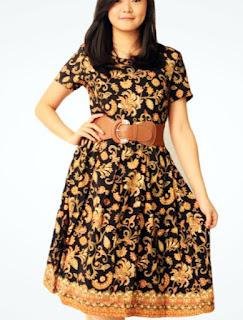Model Baju Batik Wanita Gemuk8