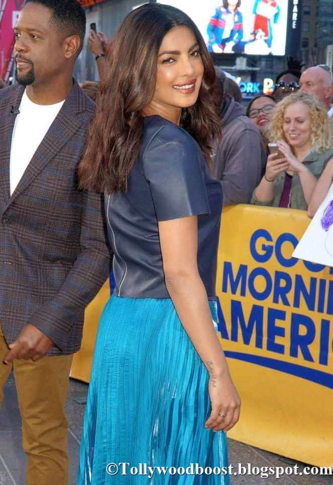 Priyanka Chopra at Good Morning America In Hot Blue Dress