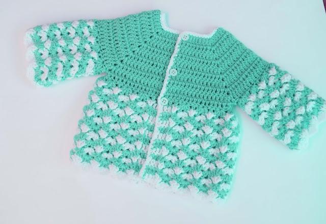 5 - Crochet Imagen Saco,jersey y chambrita a crochet y ganchillo por Majovel Crochet