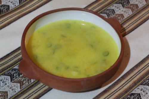 Preparación de la sopa de semola receta peruana