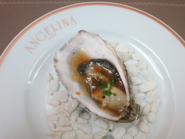 Baked pacific oysters with ginger-yuzu mignonette