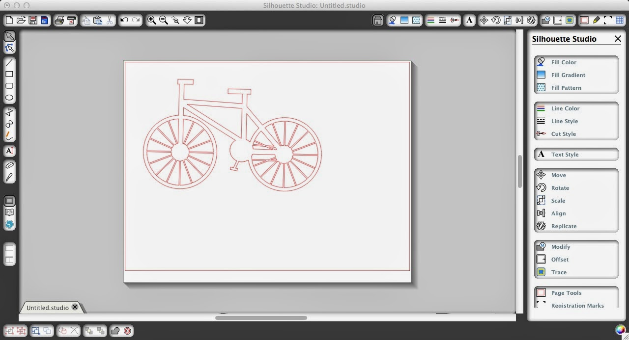 Sketch pen, Silhouette, Silhouette tutorial, sketched design, cut, Silhouette Studio, bike design