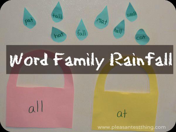 word family activity