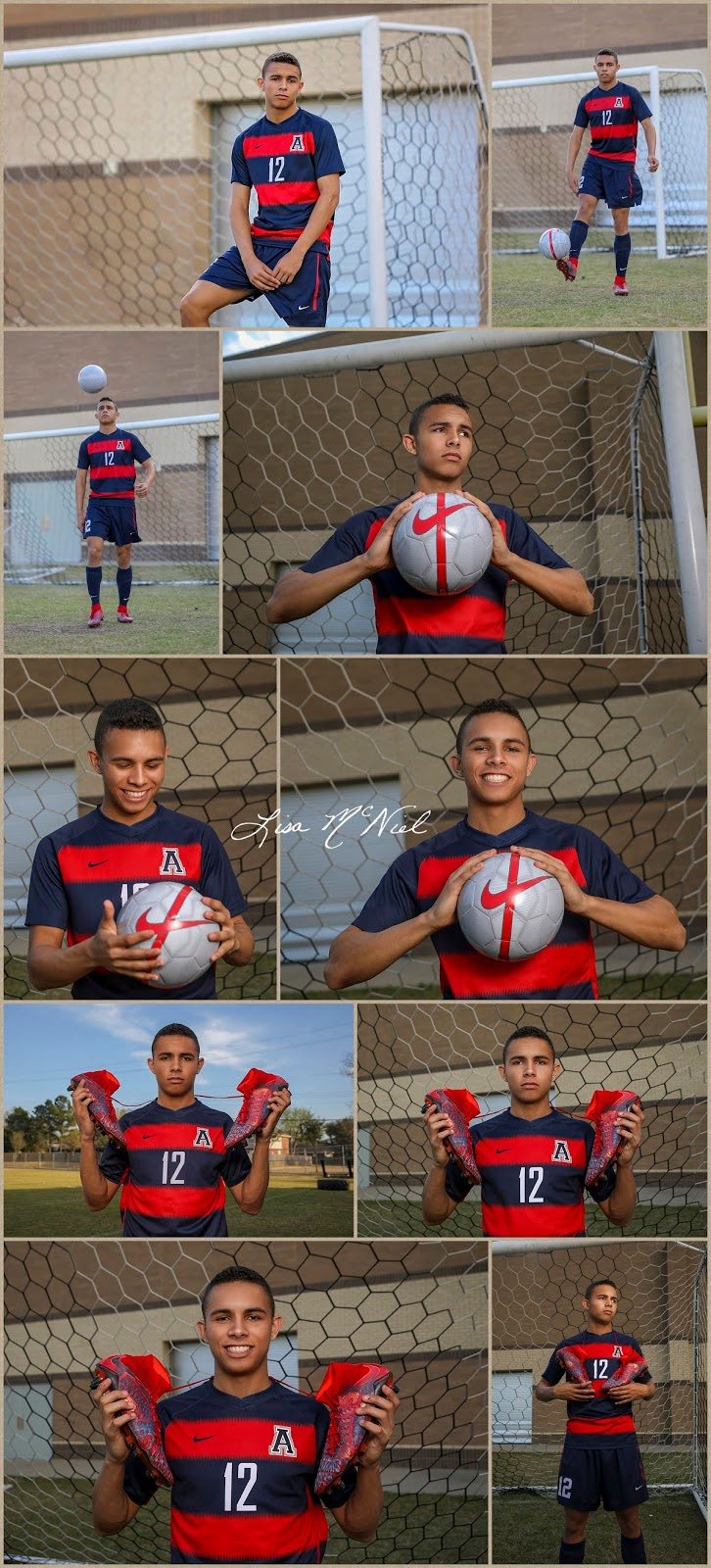 different poses for soccer senior pictures boys