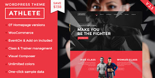 Download Athlete v2.3 Fitness,Gym & Sport WordPress Theme