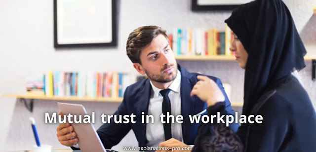 Mutual trust in the workplace