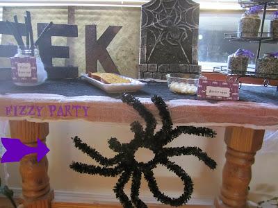 Halloween, Spider party, Dessert table