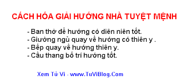 Cach Hoa Giai Huong Nha Tuyet Menh
